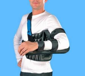 Отводящая шина для лечения разрывов сухожилий мышц вращательной манжеты
