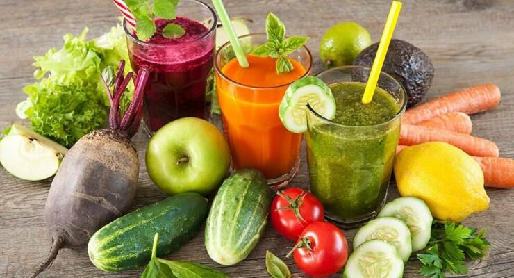 Очищающие соки и коктейли из овощей